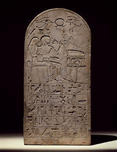 ~Stela of Senres and Hormose. Medium: Limestone Place Made: Egypt Dates: ca. 1539-1425 B.C.E. Dynasty: XVIII Dynasty Peroid: New Kingdom