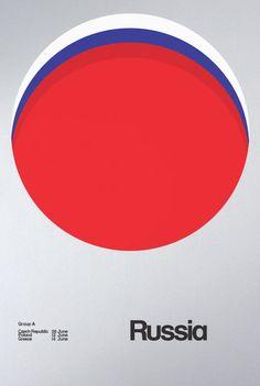 EURO 2012 POSTERS BY DAVID WATSON > Russia <3