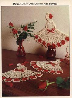 """Uncinetto d'oro: """"Ragazza con cappello"""" all'uncinetto! (Crinoline Lady Doily) (Very good graph)..."""