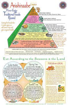 Native American (Anishinaabe) Traditional Foods Pyramid
