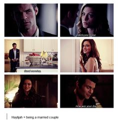 Ok as much as I know Hayley and Elijah getting together is a bad thing, I can't help but find their moments so cute.  Or maybe it's that I think Elijah is so sweet and wish I was Hayley.  LOL.  Hey, I can dream can't I??
