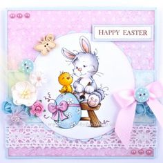 This collection includes Suzi with Bunny, Wee Bunny and Easter Bunny all from Sylvia Zet Wee Stamps collection