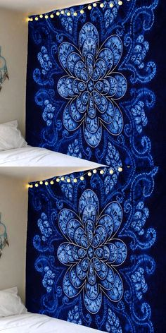 Bohemian Flower Pattern Waterproof Wall Hanging Tapestry