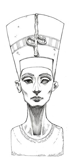This is a skecht of Nefertiti sculpture made with markers. Please visit this interesting page about the beautiful queen Nefertititi by Kem Royale :[link]: This illustration has been used there. Tha...