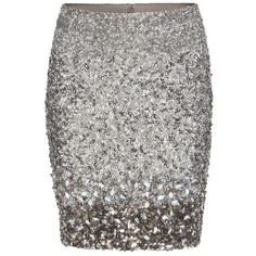 AllSaints Restrain Skirt ($179) ❤ liked on Polyvore featuring skirts, mini skirts, bottoms, saias, gonne, silver, short mini skirts, beaded skirt, high waisted sequin skirt and embellished mini skirt