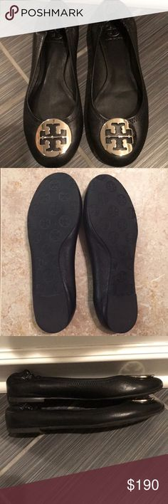 HOST PICK 12/5TORY BURCH Reva Ballet Flats PRICE FIRM UNLESS BUNDLED❤️ Black Tory Burch Reva Ballet Flats. Condition is like new. Only worn twice. Size 8 . Tory Burch logo is silver. Pictures show any tiny flaw. I HAVE OWNED SEVERAL PAIRS AND THEY LAST AND WEAR WELL! They will come shipped safely in a shoe box inside of another box. BUNDLE UP TO SAVE MORE. Tory Burch Shoes Flats & Loafers