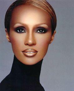 Get Iman's Ageless Beauty By Using Iman Cosmetics Sultry Makeup, Eye Makeup, Makeup Tips, Makeup Desk, Makeup Contouring, Basic Makeup, Dark Makeup, Iman Cosmetics, Top Models