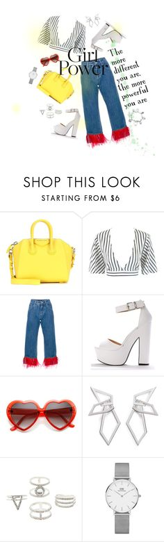 """#mypowerlook"" by elenh-tata ❤ liked on Polyvore featuring Givenchy, Dolce&Gabbana, W. Britt, Charlotte Russe, Daniel Wellington, ChloBo, power, polyvorefashion, welloybag and Themoredifferentyouarethemorepowerfulyouare"