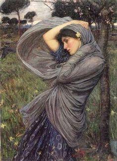 Boreas - Pre-Raphaelite Art. John William Waterhouse