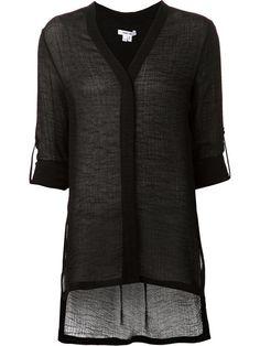 Helmut Lang V-neck Long T-shirt - Mario's - Farfetch.com