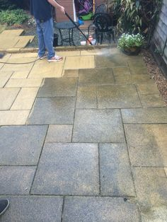 Patio pressure washing Www.reviveandsanitise.co.uk