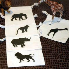 Zoo party favor bag idea