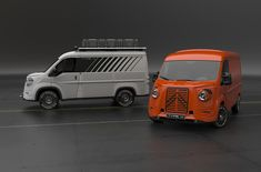 The automobile industry is on revival mode for some time now and obviously the Citroen H Van had to come up with a new model. This iconic van is still quite charming and had to be brought to life again, the new view on the old model still has the spi Citroen Concept, Citroen Type H, Citroen H Van, Concept Cars, Moto Miniature, Volkswagen, Vans Top, Vanz, Jumper