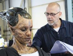 Amazing Alien Makeup Designs From Guardians Of The Galaxy Scary Makeup, Sfx Makeup, Costume Makeup, Makeup Art, Creature Feature, Creature Design, Alien Make-up, Make Up Designs, Prosthetic Makeup