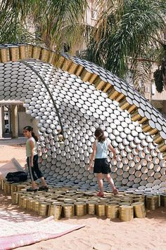 Glittering Pavilion of Recycled Cans Rises Up In Bat-Yam, Israel