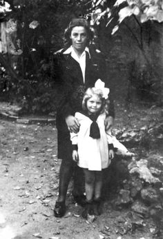FILE PHOTO shows Helena Kapustova and saved Jewish girl Elizabeth Singer in 1945. 88-year old Slovak citizen Helena Kapustova, who saved Jewish girl Elizabeth Singer during the WW II, received Israeli order Yad Vashem or Righteous Among The Nations on February 2, 2011 in Bratislava, Slovakia. (Photo by Kapustova Family Files/SME/isifa/Getty Images)