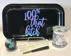 Rolling Trays/Stash Jars/Pre Rolled Cones/Lighters by KushKorner Diy Resin Tray, Diy Resin Crafts, Easy Diy Crafts, Potpourri, Weed Stickers, Small Glass Jars, Black Tray, Gift Sets For Her, Stash Jars