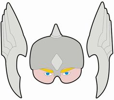Sept 14th: Thor Paper Mask.  A three part printable Thor mask- by QueenHare for the Design Every Day Project