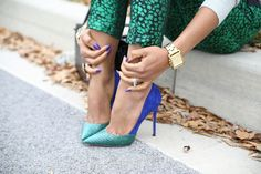 rich emeralds and cobalt