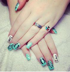 Cute Nail Idea for Teens