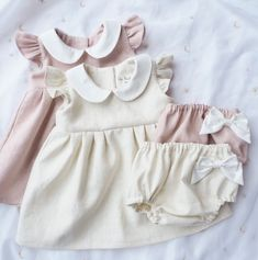 Handmade Vintage Style Linen Baby Dresses & Bloomers | Dabishoo on Etsy