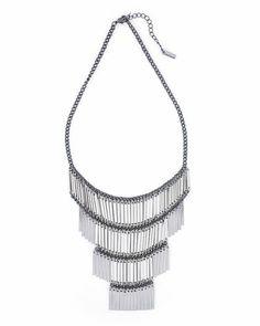 Ladder Fringe Necklace
