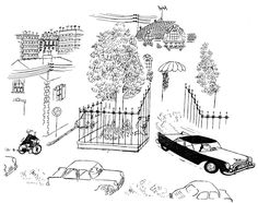 04 - Sempé's brilliant cartoon strip about class, congestion, cars and bicycles
