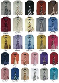 Details about Men's Cotton Blend Classic Solid Dress Shirt with Tie and Handkerchief 27 colors Men's Cotton Blend Classic Solid Dress Shirt With Tie And Handkerchief 27 Colors Shirt Tie Combo, Dress Shirt And Tie, French Cuff Dress Shirts, Suit And Tie, Shirt Outfit, Mens Fashion Suits, Fashion Wear, High Fashion, Tie A Necktie