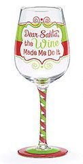 Features:  -Set of 4 wine glasses.  -Material: Glass.  -Decal design and hand-painted.  -Individually gift boxed.  -Hand-wash only.  -FDA approved.  Holiday Theme: -Yes.  Seasonal Theme: -Yes.  Holida