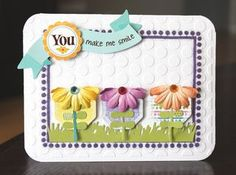 Card designed by Alice Carman with Petaloo Floradoodles flowers and Hello Spring papers by Little Yellow Bicycle!