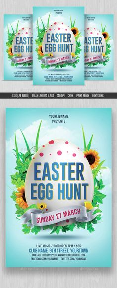 Easter Egg Hunt Flyer Template | Easter Egg Hunt Banners