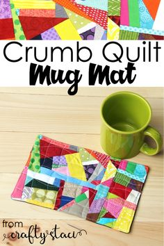 100 Brilliant Projects to Upcycle Leftover Fabric Scraps - Adjourna Mug Rug Patterns, Scrap Quilt Patterns, Sewing Patterns Free, Free Sewing, Block Patterns, Skirt Patterns, Easy Sewing Projects, Sewing Projects For Beginners, Quilting Projects