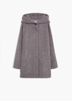 Abrigo lana capucha, ref. 53067529. 69.99 €