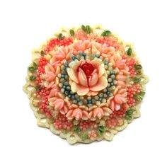 Vintage floral cabochon