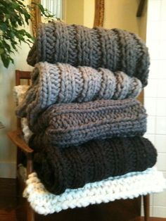 Chunky knit Wool Blanket and throw by Natural Wool Knits on Etsy, Big Gigantic Blankets and throws