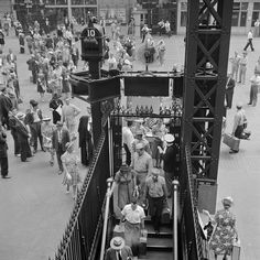 NYC's Penn Station, August 1942.