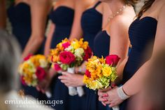 #bridesmaids #bouquets #bright #colorful #pretty