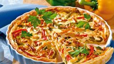 Paprika-Tarte mit Ricotta
