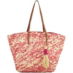 White Stuff Straw Tote Bag, Ombre Pink (2.510 RUB) ❤ liked on Polyvore featuring bags, handbags, tote bags, handbag tote, shopping tote bags, pink purse, shopping bag and straw tote bags