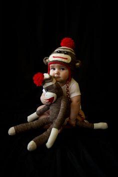 Sock Monkey Hat by JUSTaBALLofSTRiNG on Etsy