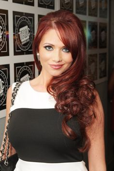 Love the color! This is how red I want my hair :)