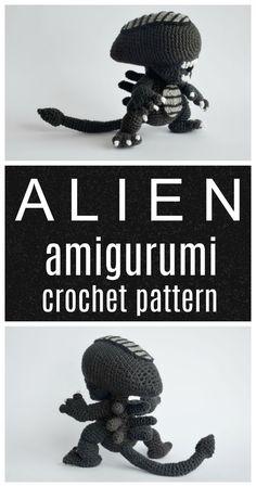 Alien the movie amigurumi geeky pattern. #etsyfinds #crochetpattern #geek #affiliate