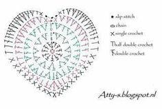 ideas crochet heart diagram valentines day for 2019 Crochet Coaster Pattern, Crochet Diagram, Crochet Chart, Crochet Stitches, Applique Stitches, Crochet Symbols, Crochet Mittens, Crochet Poncho, Ravelry Crochet