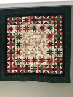 Heavenly Light -designed by Charlotte Angotti-pieced and quilted by Trish