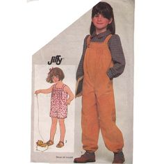 1980s Toddler One Piece Jumpsuit/Overalls by RedcurlzsPatterns