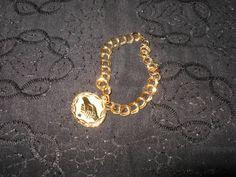 #Vintage #14K #Gold Filled #Charm #Bracelet Charm Genuine #Sapphire #Avon  $49 http://www.rubylane.com/item/469850-157-14/Vintage-14K-Gold-Filled-Charm