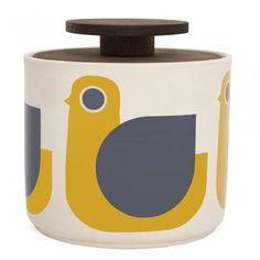 Orla Kiely Hen Storage Jar 1 Litre