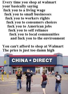 """So if you don't like the """"F"""" word then stop shopping at Walmart.  That goes for all those that like the """"F"""" word too!"""
