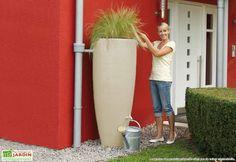 récupérateur eau de pluie, pot de fleur récupérateur eau de pluie