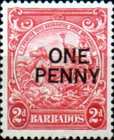 Barbados 1947 King Surcharged SG 264c Mint SG 264c Scott 209a Condition Fine LMM Only one post charge applied on multipule purchases Details N B With